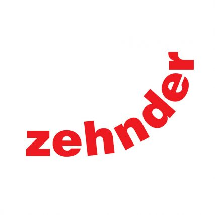 Zehnder catalogue logo red font on a white background